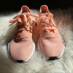 pink adidas running shoes